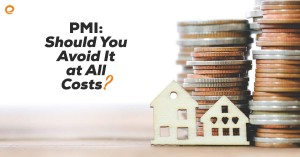 Should you avoid paying PMI? Tiny house stacked next to coins